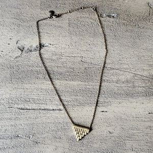 J.Crew Hinged Triangle Necklace